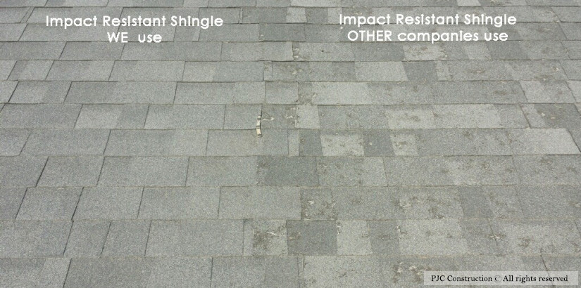 Impact Resistant Shingle PJC Construction